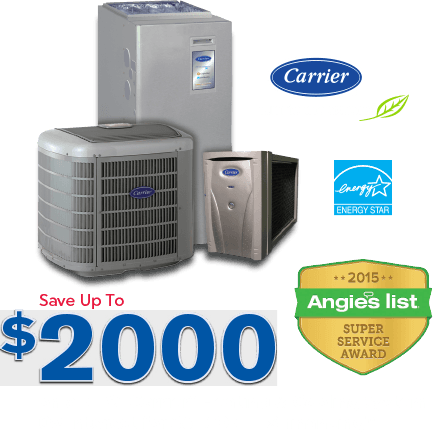 Save up to $2,000 on new Carrier Equipmet