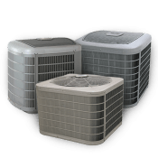 Three outdoor air conditioning units