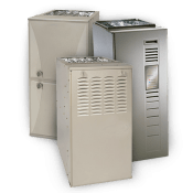 Three gas furnace units