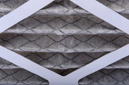 Close up of a dirty air filter