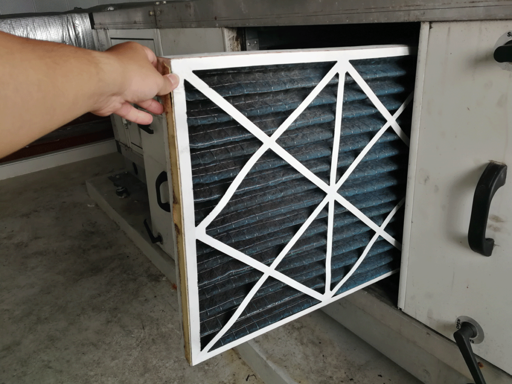 Changing a furnace filter / fall prep